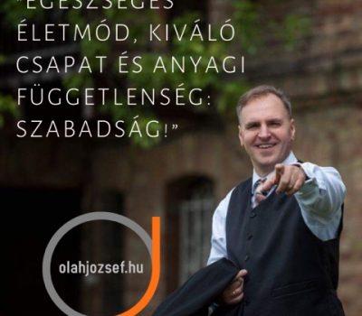 Oláh József Hálózatépítés, anyagi függetlenség nyomás nélkül HRI Vitalion